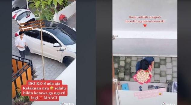Pria ini kirim buket uang dengan menggunakan drone demi menghibur pacarnya yang isolasi mendadak viral