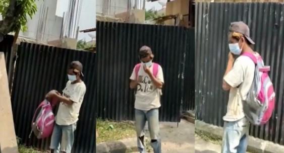 Pekerja Kuli Bangunan Viral dipecat karena tidak pakai masker, langsung dipulangkan